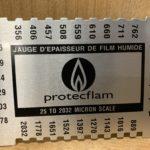 Jauge de vérification d'épaisseur pour solutions intumescentes Verniflam®